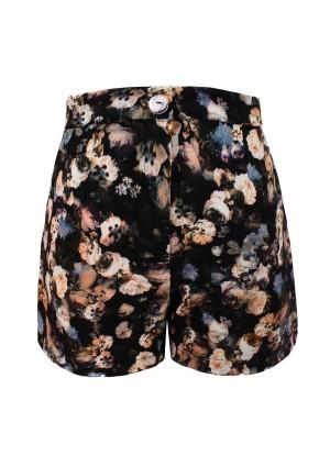 Lavish Alice Dark Floral Tailored Shorts